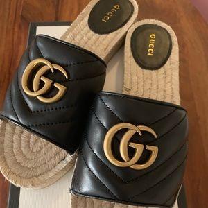 Gucci Espadrille Slide Sandal